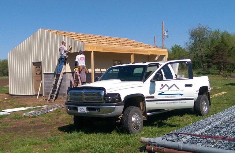 Timber Creek Construction working on a project for Prairie Paws LLC